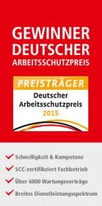 HWT Hansen, Arbeitsschutzpreis, Gewinner, T-Rex, Heizungsfirma, Heizung, Tankreinigung