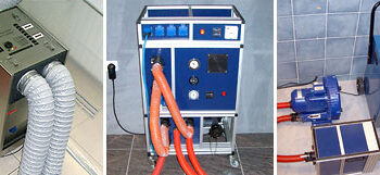Feuchtigkeitsmessung, Bautrocknung, Leckageortung