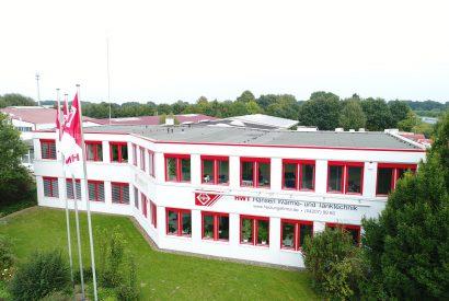 Das ist das Firmengebäude der Heizungsfirma HWT Hansen